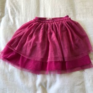 H&M girls fushia pink layered skirt sz 5/6